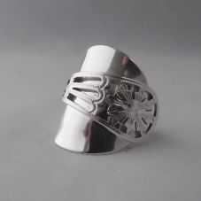 Stunning Handmade Chunky Ornate Sterling Silver 925 Spoon Ring dated 1939